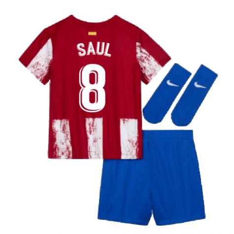 Детская форма Атлетико Мадрид 2021-2022 Сауль 8 с гетрами