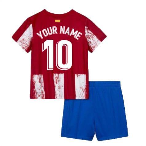 Детская форма Атлетико Мадрид 2021-2022 с вашей фамилией и номером