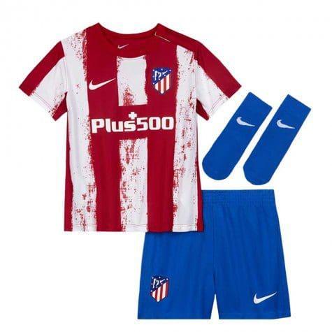 Детская форма Атлетико Мадрид 2021-2022 с нанесением и гетрами