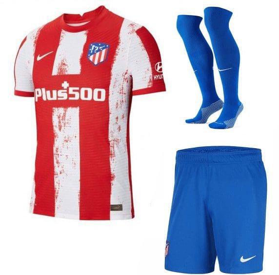 Футбольная форма Карраско 21 Атлетико Мадрид 2022 с гетрами
