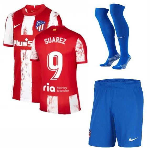 Футбольная форма Суарес 9 Атлетико Мадрид 2022 с гетрами