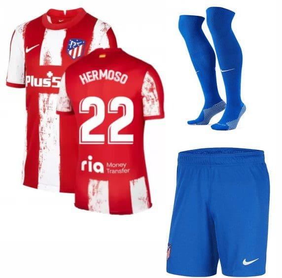 Футбольная форма Эрмосо 22 Атлетико Мадрид 2022 с гетрами