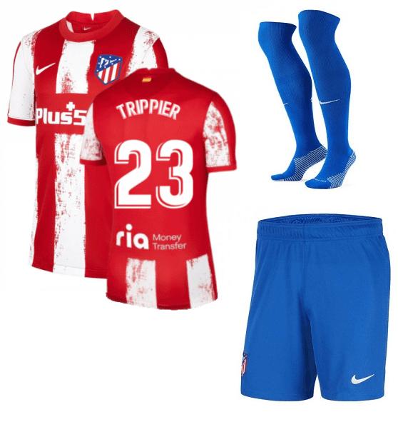 Футбольная форма Триппьер 23 Атлетико Мадрид 2022 с гетрами