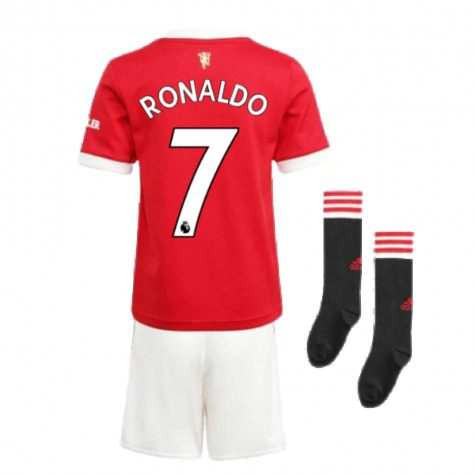 Детская форма Манчестер Юнайтед 2021-2022 Роналду 7 с гетрами купить