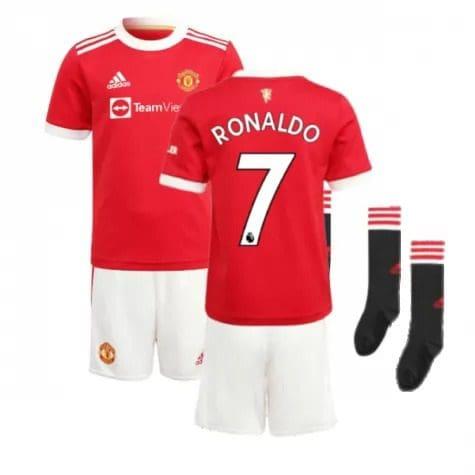 Детская форма Манчестер Юнайтед 2021-2022 Роналду 7 с гетрами