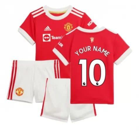 Детская форма Манчестер Юнайтед 2021-2022 с вашей фамилией и номером