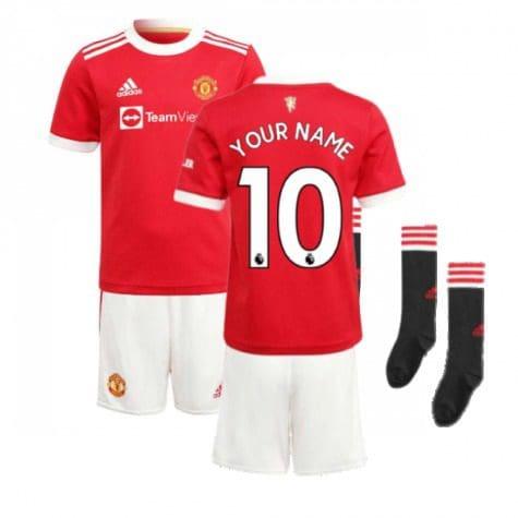 Детская форма Манчестер Юнайтед 2021-2022 с нанесением и гетрами купить