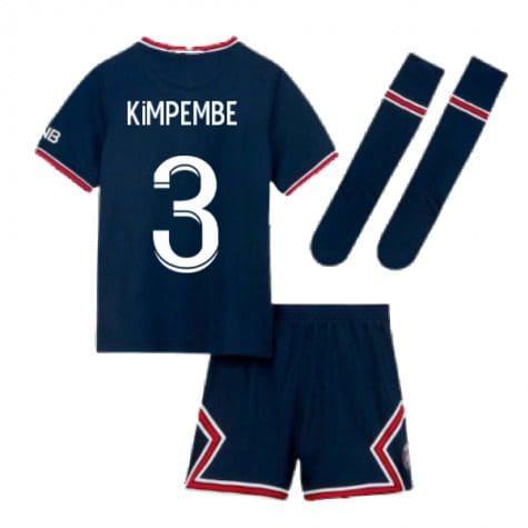 Детская форма ПСЖ 2021-2022 Кимпембе 3 с гетрами
