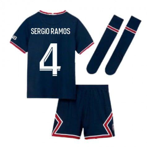 Детская форма ПСЖ 2021-2022 Серхио Рамос 4 с гетрами