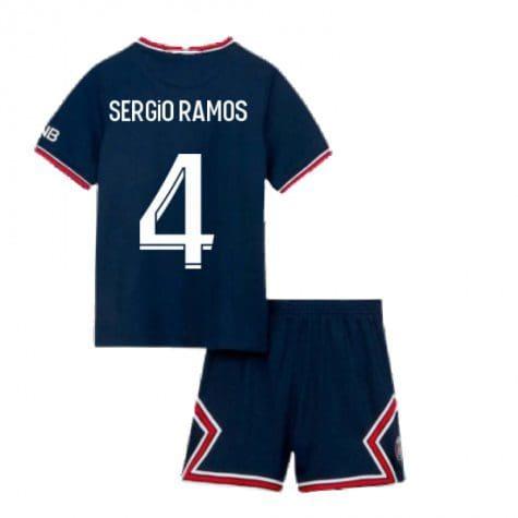 Детская форма ПСЖ 2021-2022 Серхио Рамос 4