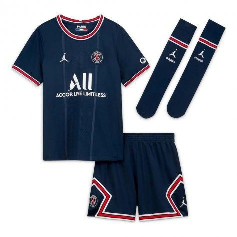 Детская футбольная форма ПСЖ 2021-2022 с гетрами