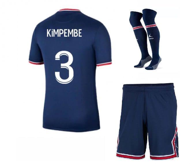 Футбольная форма Кимпембе 3 ПСЖ 2022 с гетрами