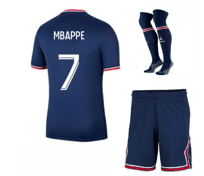 Футбольная форма Мбаппе 7 ПСЖ 2022 с гетрами