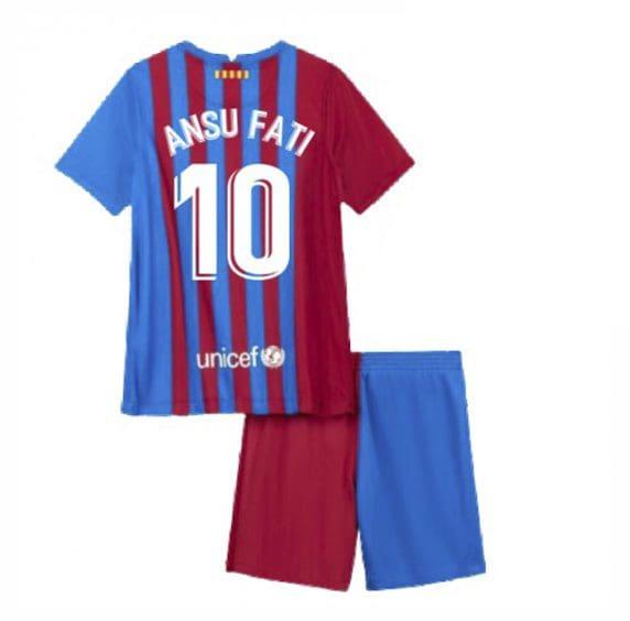 Детская форма Барселона 2021-2022 Ансу Фати 10