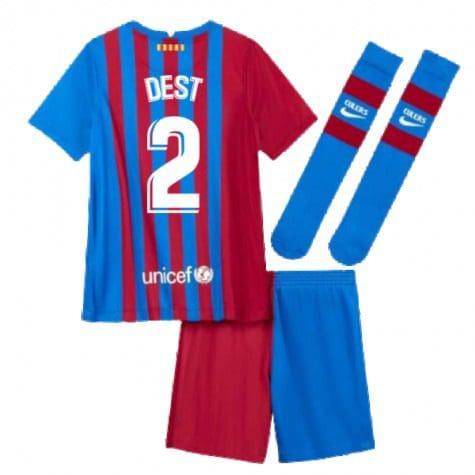 Детская форма Барселона 2021-2022 Дест 2 с гетрами