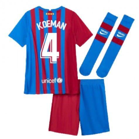 Детская форма Барселона 2021-2022 Куман 4 с гетрами