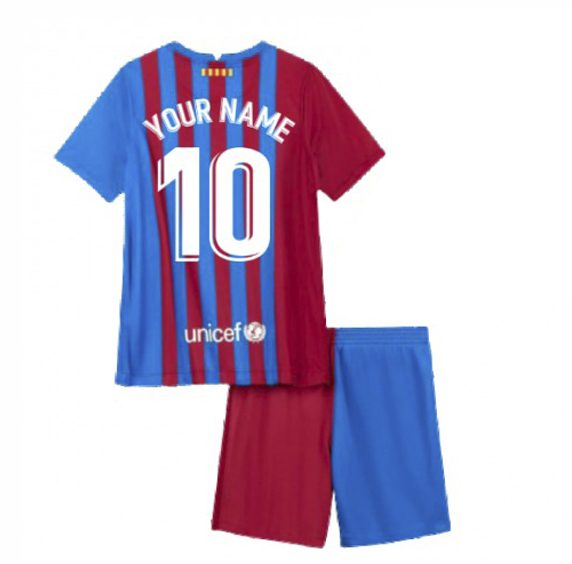 Детская форма Барселона 2021-2022 с вашей фамилией и номером