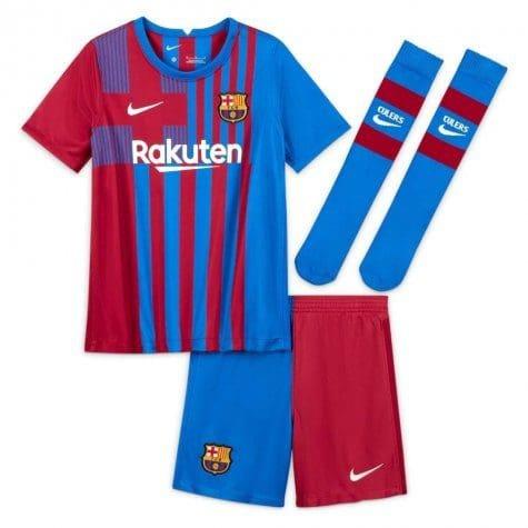 Детская форма Барселона 2021-2022 с нанесением и гетрами