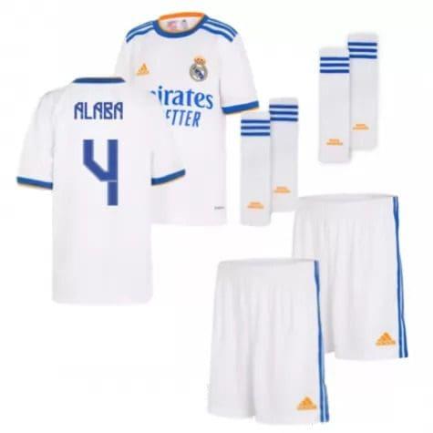 Детская форма Реал Мадрид 2021-2022 Алаба 4 с гетрами