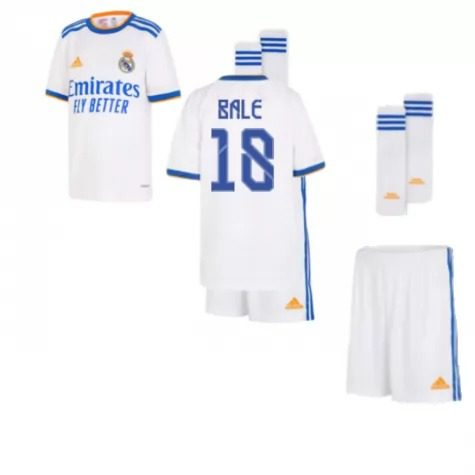 Детская форма Реал Мадрид 2021-2022 Бейл 18 с гетрами
