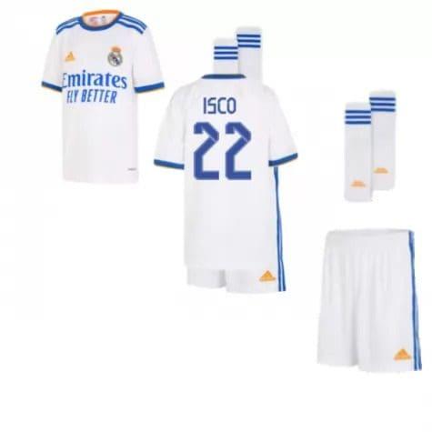 Детская форма Реал Мадрид 2021-2022 Иско 22 с гетрами