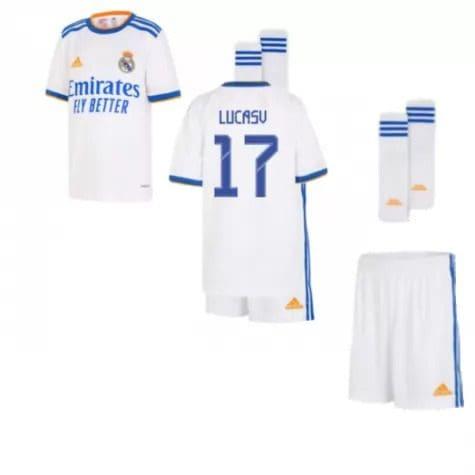 Детская форма Реал Мадрид 2021-2022 Лукас В 17 с гетрами