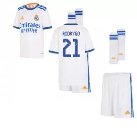 Детская форма Реал Мадрид 2021-2022 Родриго 21 с гетрами
