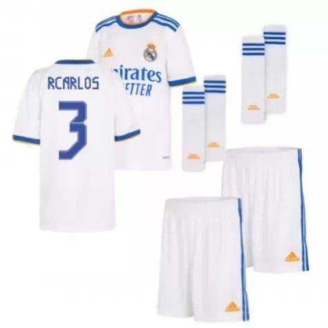 Детская форма Реал Мадрид 2021-2022 Р Карлос 3 с гетрами