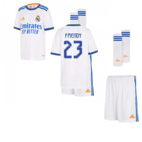 Детская форма Реал Мадрид 2021-2022 Ф Менди 23 с гетрами