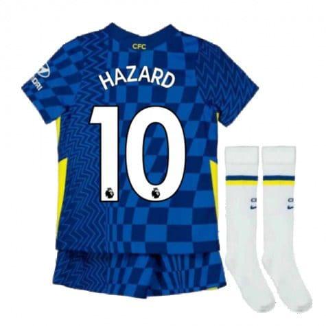 Детская форма Челси 2021-2022 Азар 10 с гетрами