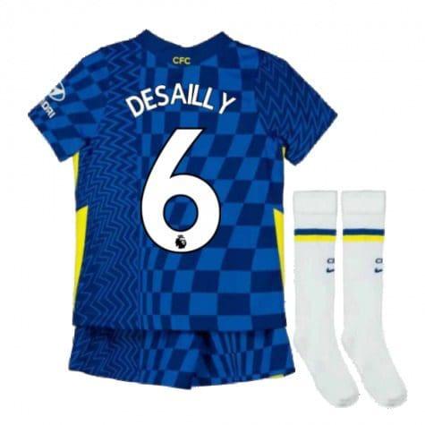 Детская форма Челси 2021-2022 Десайи 6 с гетрами