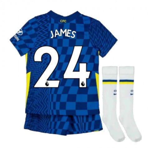 Детская форма Челси 2021-2022 Джеймс 24 с гетрами