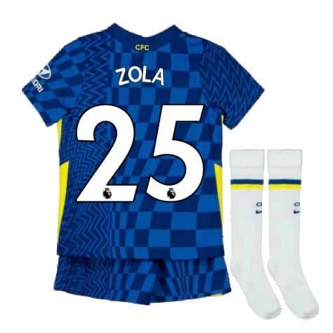 Детская форма Челси 2021-2022 Дзола 25 с гетрами