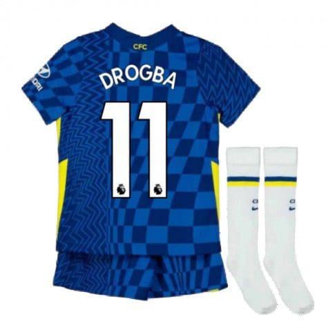 Детская форма Челси 2021-2022 Дрогба 11 с гетрами