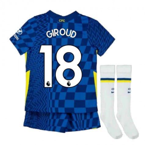 Детская форма Челси 2021-2022 Жиру 18 с гетрами