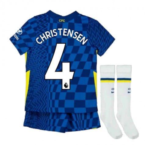 Детская форма Челси 2021-2022 Кристенсен 4 с гетрами