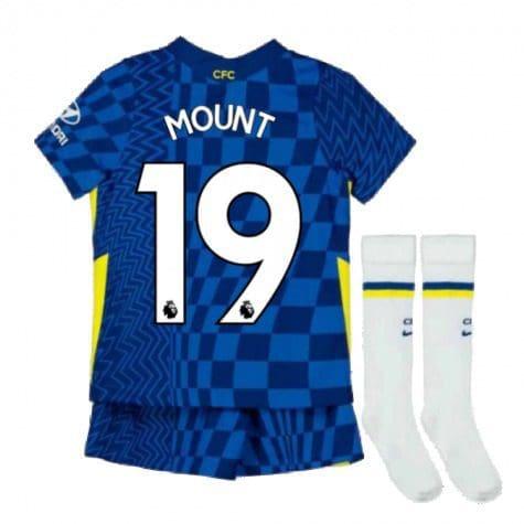 Детская форма Челси 2021-2022 Маунт 19 с гетрами