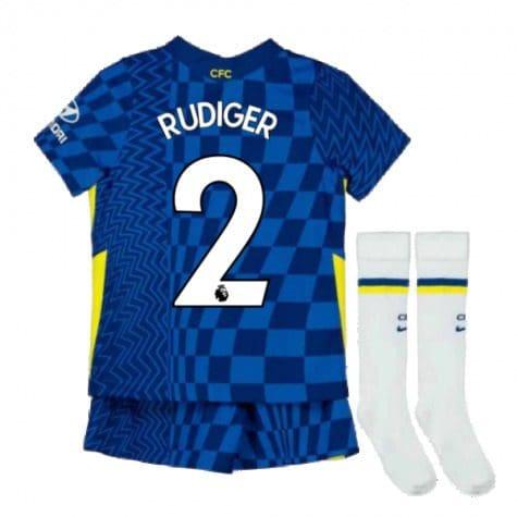 Детская форма Челси 2021-2022 Рюдигер 2 с гетрами