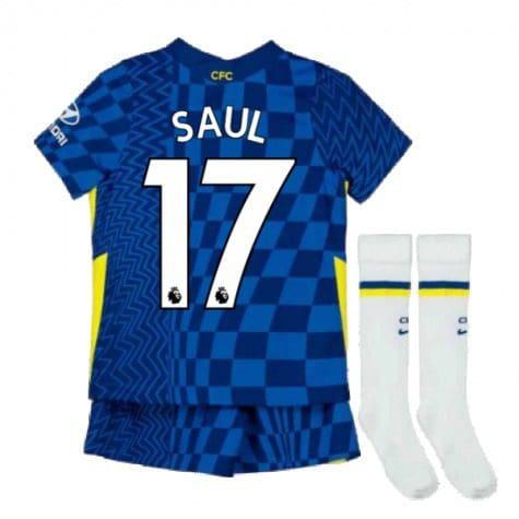 Детская форма Челси 2021-2022 Сауль 17 с гетрами
