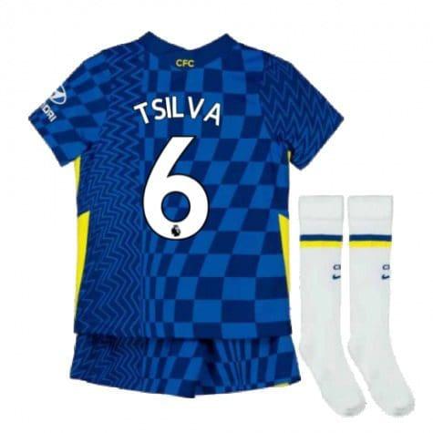 Детская форма Челси 2021-2022 Тьяго Силва 6 с гетрами