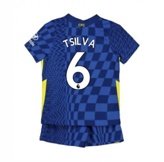 Детская форма Челси 2021-2022 Тьяго Силва 6