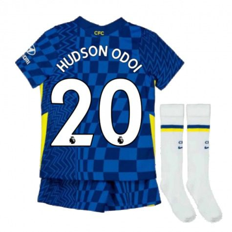 Детская форма Челси 2021-2022 Хадсон-Одои 20 с гетрами