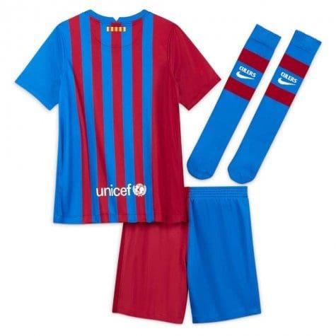 Детская футбольная форма Барселона 2021-2022 с гетрами