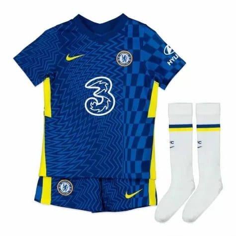 Детская футбольная форма Челси 2021-2022 с гетрами