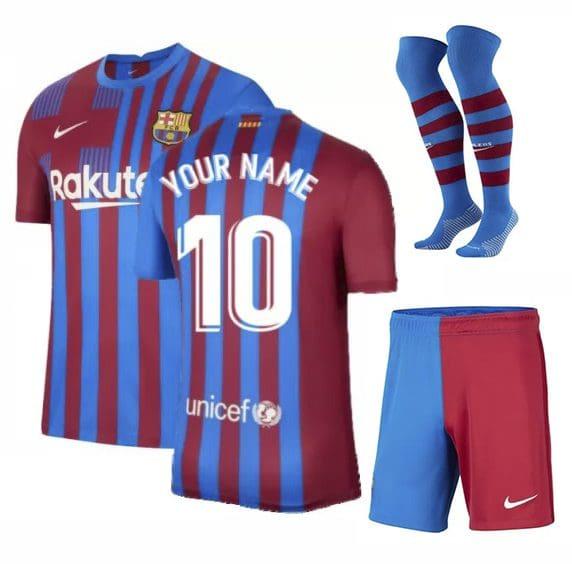 Форма Барселона 2021-2022 с именем номером и гетрами