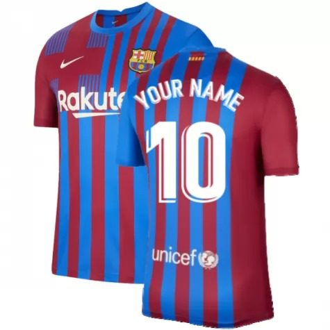 Футболка Барселона 2021-2022 с Вашим именем и номером