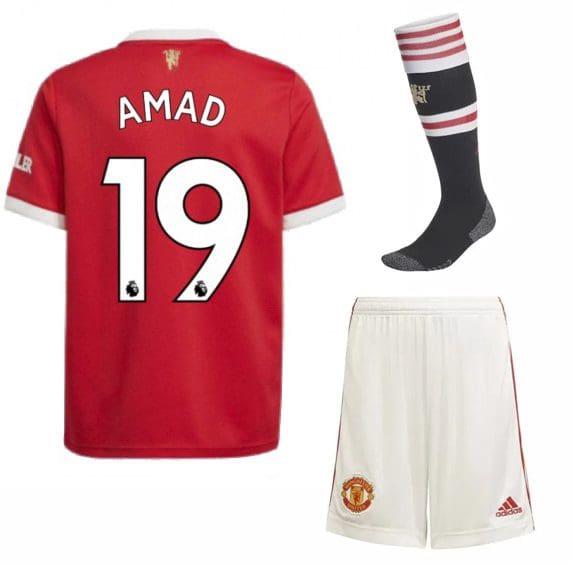 Футбольная форма Амад 19 Манчестер Юнайтед 2022 с гетрами