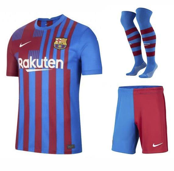 Футбольная форма Барселона 2021-2022 с гетрами