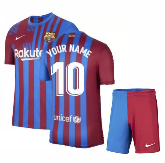 Футбольная форма Барселона 2021-2022 с именем и номером