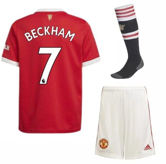 Футбольная форма Бекхэм 7 Манчестер Юнайтед 2022 с гетрами